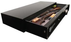 hide gun safe under bed